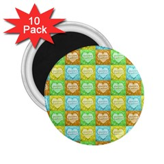 Colorful Happy Easter Theme Pattern 2 25  Magnets (10 Pack)  by dflcprints