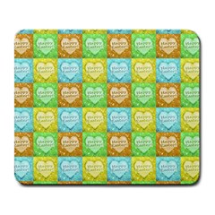 Colorful Happy Easter Theme Pattern Large Mousepads by dflcprints