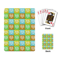 Colorful Happy Easter Theme Pattern Playing Card by dflcprints