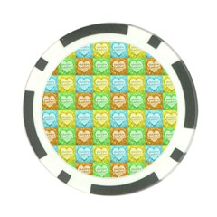 Colorful Happy Easter Theme Pattern Poker Chip Card Guard by dflcprints