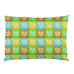 Colorful Happy Easter Theme Pattern Pillow Case (two Sides) by dflcprints