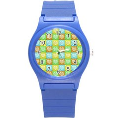 Colorful Happy Easter Theme Pattern Round Plastic Sport Watch (s) by dflcprints