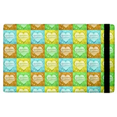 Colorful Happy Easter Theme Pattern Apple Ipad 3/4 Flip Case by dflcprints