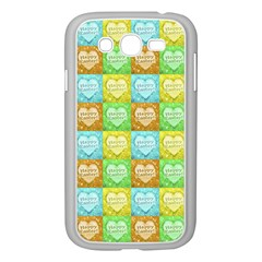 Colorful Happy Easter Theme Pattern Samsung Galaxy Grand Duos I9082 Case (white) by dflcprints