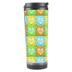 Colorful Happy Easter Theme Pattern Travel Tumbler by dflcprints