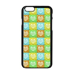Colorful Happy Easter Theme Pattern Apple Iphone 6/6s Black Enamel Case by dflcprints