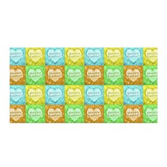 Colorful Happy Easter Theme Pattern Satin Wrap by dflcprints