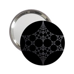 Drawing Of A White Spindle On Black 2 25  Handbag Mirrors by Nexatart