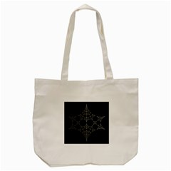 Drawing Of A White Spindle On Black Tote Bag (cream) by Nexatart
