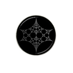 Drawing Of A White Spindle On Black Hat Clip Ball Marker (10 Pack) by Nexatart