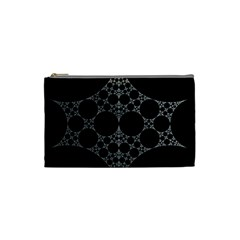 Drawing Of A White Spindle On Black Cosmetic Bag (small)  by Nexatart