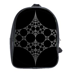 Drawing Of A White Spindle On Black School Bags(large)  by Nexatart