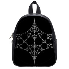 Drawing Of A White Spindle On Black School Bags (small)  by Nexatart