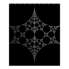 Drawing Of A White Spindle On Black Shower Curtain 60  X 72  (medium)  by Nexatart