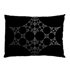 Drawing Of A White Spindle On Black Pillow Case (two Sides)