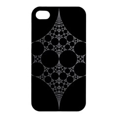 Drawing Of A White Spindle On Black Apple Iphone 4/4s Hardshell Case