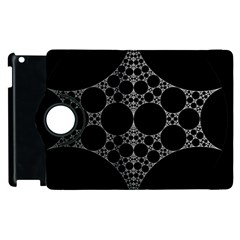 Drawing Of A White Spindle On Black Apple Ipad 2 Flip 360 Case by Nexatart