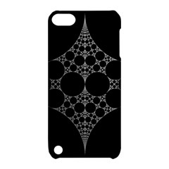 Drawing Of A White Spindle On Black Apple Ipod Touch 5 Hardshell Case With Stand