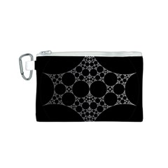 Drawing Of A White Spindle On Black Canvas Cosmetic Bag (s) by Nexatart