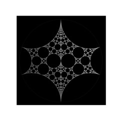 Drawing Of A White Spindle On Black Small Satin Scarf (square) by Nexatart