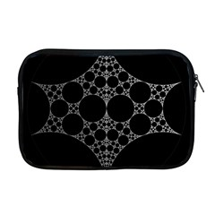 Drawing Of A White Spindle On Black Apple Macbook Pro 17  Zipper Case by Nexatart