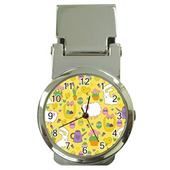 Cute Easter Pattern Money Clip Watches by Valentinaart