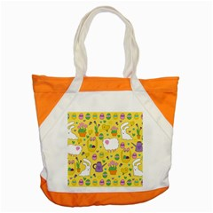 Cute Easter Pattern Accent Tote Bag by Valentinaart