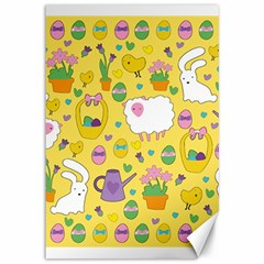 Cute Easter Pattern Canvas 12  X 18   by Valentinaart