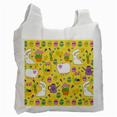 Cute Easter Pattern Recycle Bag (one Side) by Valentinaart