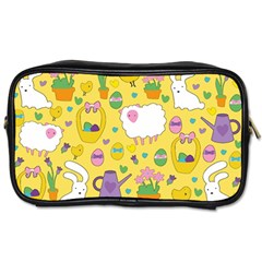 Cute Easter Pattern Toiletries Bags by Valentinaart