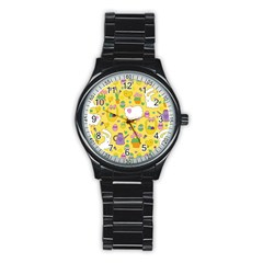 Cute Easter pattern Stainless Steel Round Watch