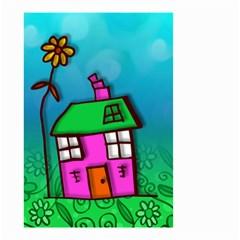 Cartoon Grunge Cat Wallpaper Background Small Garden Flag (two Sides) by Nexatart