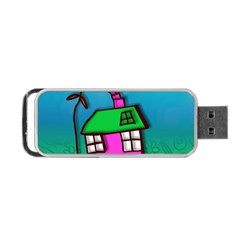 Cartoon Grunge Cat Wallpaper Background Portable Usb Flash (one Side)