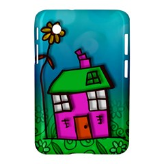 Cartoon Grunge Cat Wallpaper Background Samsung Galaxy Tab 2 (7 ) P3100 Hardshell Case  by Nexatart