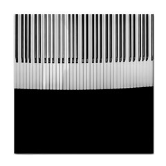 Piano Keys On The Black Background Tile Coasters