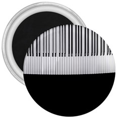 Piano Keys On The Black Background 3  Magnets by Nexatart