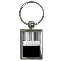 Piano Keys On The Black Background Key Chains (rectangle)