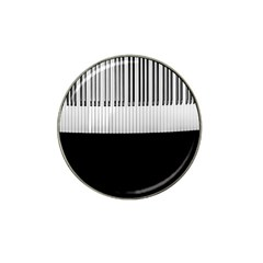 Piano Keys On The Black Background Hat Clip Ball Marker (10 Pack) by Nexatart
