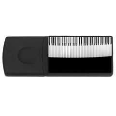 Piano Keys On The Black Background Usb Flash Drive Rectangular (4 Gb)