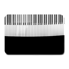 Piano Keys On The Black Background Plate Mats by Nexatart