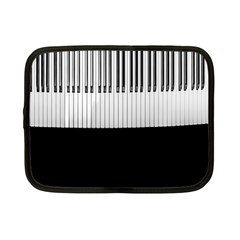 Piano Keys On The Black Background Netbook Case (small)  by Nexatart