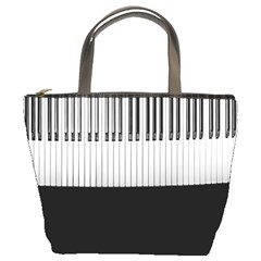 Piano Keys On The Black Background Bucket Bags by Nexatart