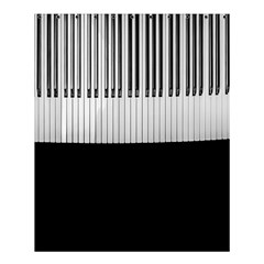 Piano Keys On The Black Background Shower Curtain 60  X 72  (medium)  by Nexatart