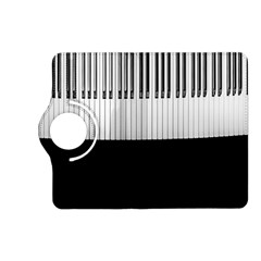 Piano Keys On The Black Background Kindle Fire Hd (2013) Flip 360 Case by Nexatart