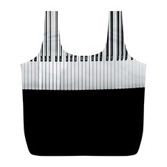 Piano Keys On The Black Background Full Print Recycle Bags (l)