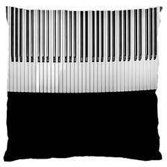 Piano Keys On The Black Background Standard Flano Cushion Case (two Sides)