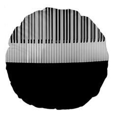 Piano Keys On The Black Background Large 18  Premium Flano Round Cushions by Nexatart