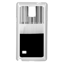 Piano Keys On The Black Background Samsung Galaxy Note 4 Case (white)