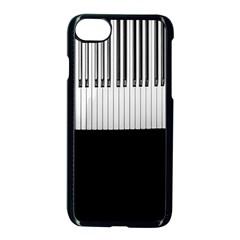 Piano Keys On The Black Background Apple Iphone 7 Seamless Case (black) by Nexatart