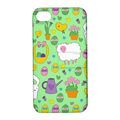 Cute Easter Pattern Apple Iphone 4/4s Hardshell Case With Stand by Valentinaart